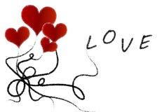 Воздушные шары сердца Стоковое фото RF