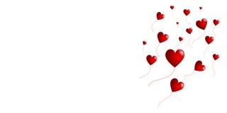 Воздушные шары сердца Стоковое Изображение