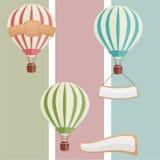 воздушные шары установили Стоковая Фотография RF
