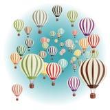 воздушные шары установили Иллюстрация штока