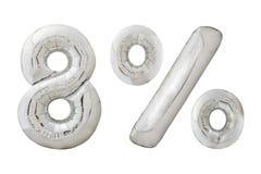 Воздушные шары хрома 8 процентов металлические на белизне Стоковые Изображения
