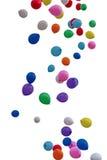 Воздушные шары цвета летания Стоковое Фото