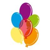 Воздушные шары цвета на белой предпосылке иллюстрация вектора