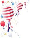 воздушные шары четвертое -го июль Стоковые Изображения RF