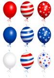 Воздушные шары четвертый od июль иллюстрация вектора