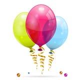Воздушные шары дня рождения Стоковое Изображение RF