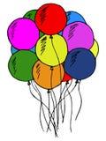 Воздушные шары, Doodle Стоковое Фото