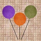 Воздушные шары Grunge Стоковое Изображение RF