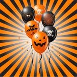 Воздушные шары Halloween Стоковая Фотография