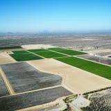 воздушные croplands Стоковое Изображение