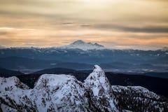 Воздушный ландшафт горы Стоковое фото RF