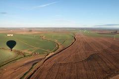 Воздушный ландшафт от горячего воздушного шара Стоковое Фото