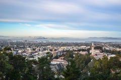 Воздушный ландшафт района Университета штата Калифорнии и залива Стоковое Изображение