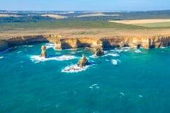 воздушный большой взгляд дороги океана Стоковое Фото