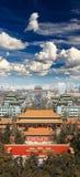 воздушный взгляд города Пекин Стоковое Изображение RF