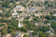 воздушный взгляд городка Стоковые Изображения