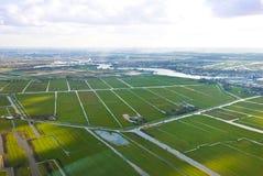 воздушный взгляд сельскохозяйствення угодье Стоковые Фото