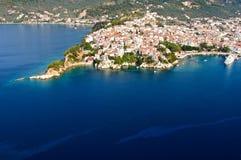 воздушный взгляд skiathos Стоковое Изображение