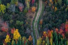 Воздушный взгляд ландшафта Стоковые Фотографии RF