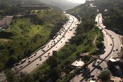 воздушный взгляд города сток-видео