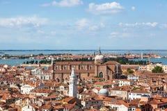 воздушный взгляд Италии venice Стоковые Изображения RF