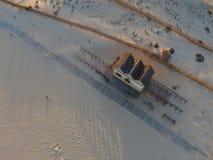 воздушный взгляд пляжа стоковые изображения