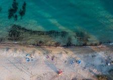 воздушный взгляд пляжа Стоковое Изображение