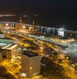 воздушный взгляд Украины ночи kyiv города cruz de santa tenerife стоковые фото