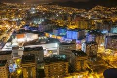 воздушный взгляд Украины ночи kyiv города cruz de santa tenerife стоковое фото rf