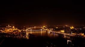 воздушный взгляд budapest стоковое изображение rf