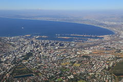 воздушный взгляд Cape Town Стоковые Изображения
