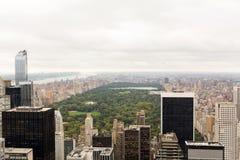 воздушный взгляд Central Park стоковая фотография rf