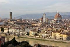 воздушный взгляд florence Италии Стоковая Фотография