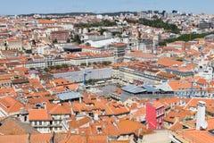 воздушный взгляд lisbon Стоковое Изображение