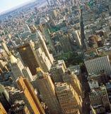 воздушный взгляд nyc Стоковая Фотография RF
