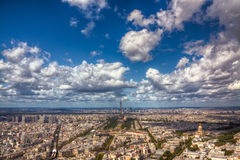 воздушный взгляд paris Стоковая Фотография RF