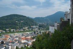 воздушный взгляд salzburg Стоковые Изображения