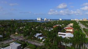 Воздушный видео- бульвар Флорида 2 пляжа Голливуда акции видеоматериалы