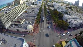 Воздушный видео- бульвар Miami Beach Вашингтона сток-видео