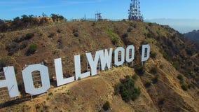 Воздушный видео- знак Голливуда акции видеоматериалы