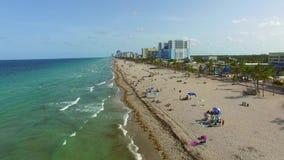 Воздушный видео- пляж FL 3 Голливуда сток-видео