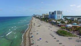 Воздушный видео- пляж FL 4 Голливуда акции видеоматериалы