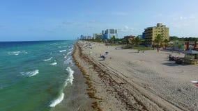 Воздушный видео- пляж FL 2 Голливуда сток-видео