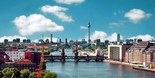Воздушный горизонт Берлина фото Стоковые Изображения RF