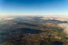 Воздушный горизонт земли Стоковые Фотографии RF