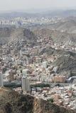Воздушный горный вид города Саудовской Аравии мекки стоковые фотографии rf