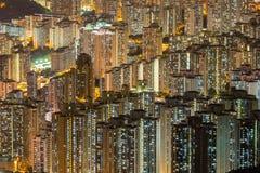 Воздушный жилой район Гонконга Стоковое Фото