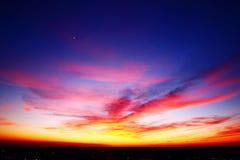 Воздушный заход солнца Стоковая Фотография RF