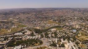 Воздушный Иерусалим Israe Стоковые Изображения RF