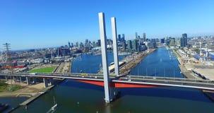 Воздушный мост Bolte, Мельбурн сток-видео